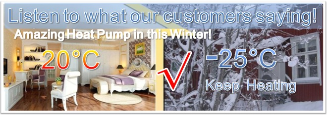 Palm heat pump give warm during the cold winter